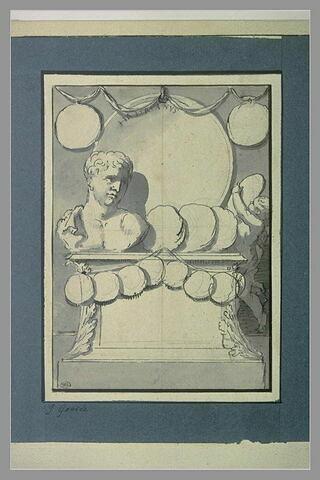 Stèle supportant le buste de l'empereur Adrien