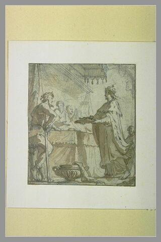Le roi saint Louis servant les pauvres à table