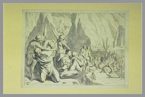 Embarquement des Grecs après l'incendie de Troie