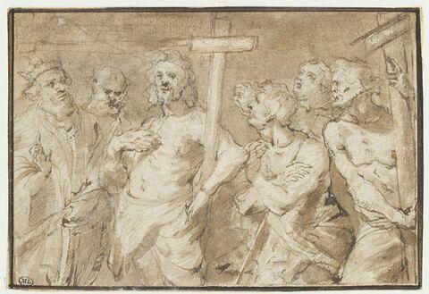Saint Jean-Baptiste paraissant devant Herode (?)