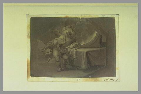 Cupidon se regardant dans un miroir
