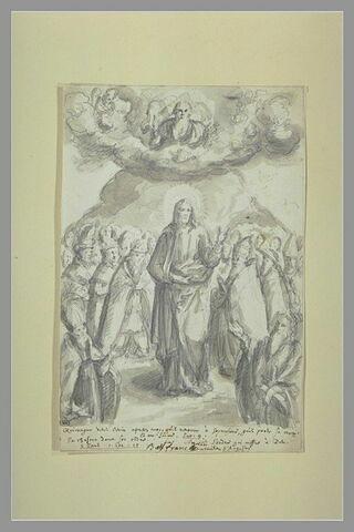 Jésus-Christ au milieu des fidèles agenouillés