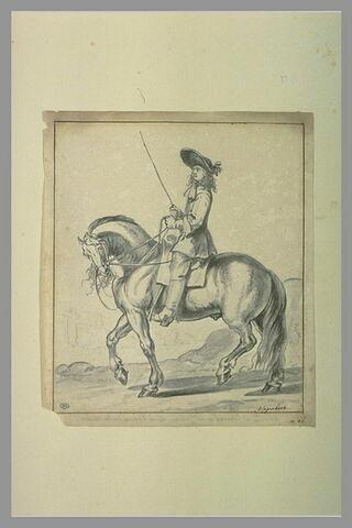Etude d'un cavalier se dirigeant vers la gauche