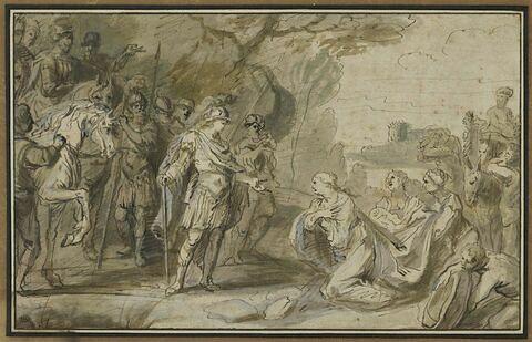 Alexandre le Grand et la veuve de Darius ou David et Abigaïl