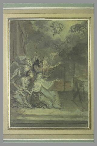 Sainte Thérèse entourée d'anges