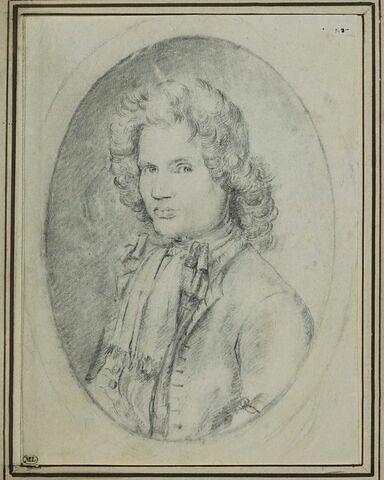 Portrait en buste d'un jeune homme