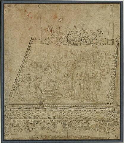 L'Enlèvement d'Hélène, étude de décoration pour un coffret