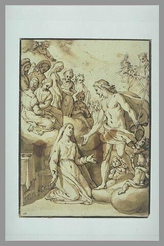 Jésus apparaissant à sainte Catherine de Sienne