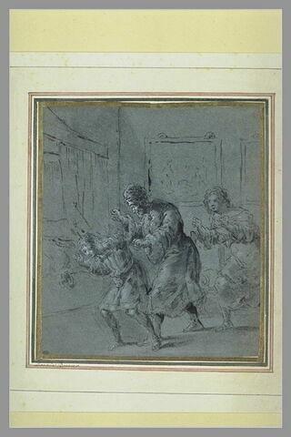 Abraham corrigeant le jeune Ismaël