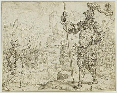 David défiant Goliath