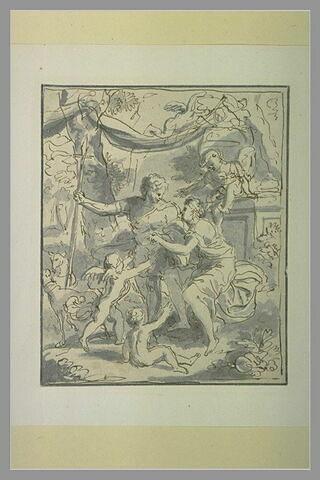 Adonis se séparant de Vénus pour partir à la chasse