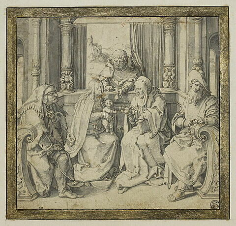 La Sainte Famille et sainte Anne, saint Joachim et saint Zacharie (?)