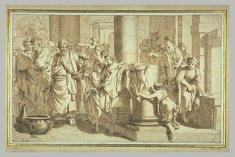 Fragment du miracle de Jésus aux noces de Cana