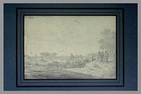 Paysage étendu avec quatre figures
