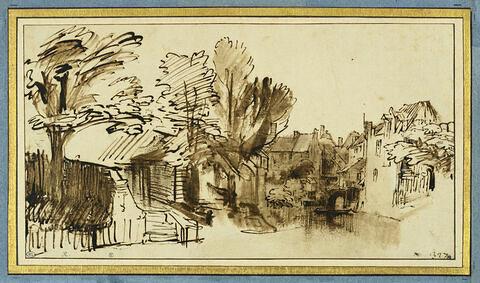 Vue du canal dit Singel, à Amersfoort, province d'Utrecht
