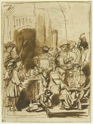 Joseph dans la maison de son père, racontant ses songes