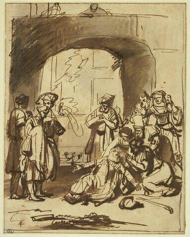 Jacob s'affligeant à la vue de la robe de Joseph