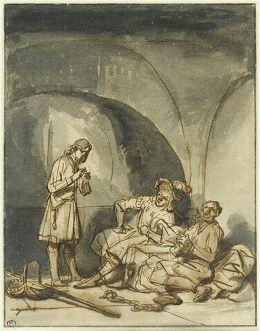 Joseph en prison, expliquant les songes du grand panetier et de l'échanson