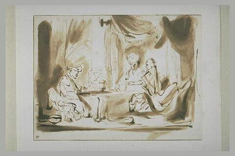 Assuérus et Aman chez Esther