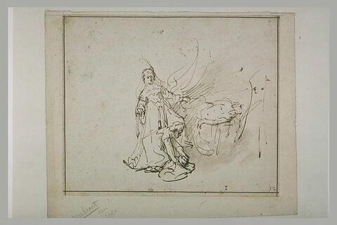 La servante de Judith mettant la tête d'Holopherne dans un sac