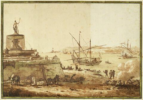 Vue du port de La Valette à Malte