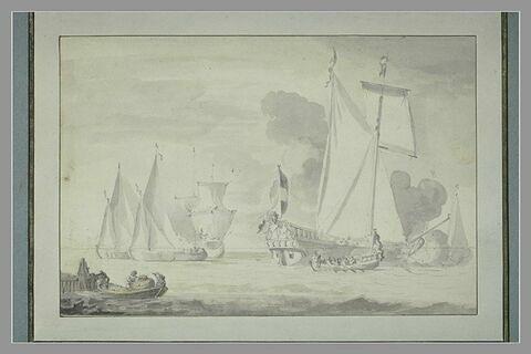 Yacht hollandais et quatre autres embarcations