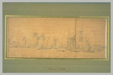 Flotte de yachts anglais sur la Tamise