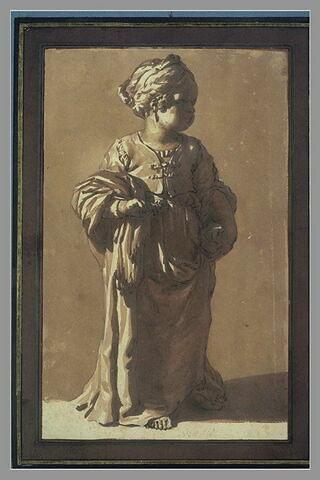 Statuette d'une petite fille