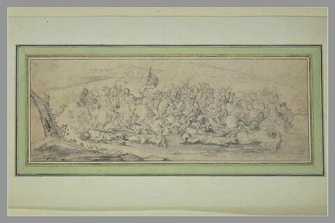 Bataille de cavaliers équipés à l'antique