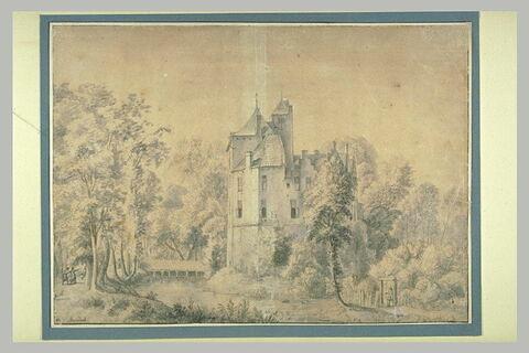 Le château de Ruwiel, près de Breukelen, dans la province d'Utrecht