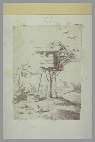 Un pigeonnier sur piliers en bois