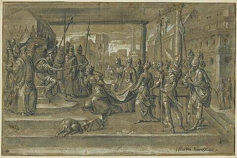 Esther s'agenouillant devant Assuérus