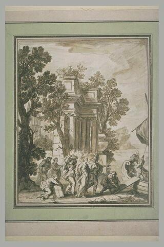 Embarquement d'Hélène enlevée par Pâris
