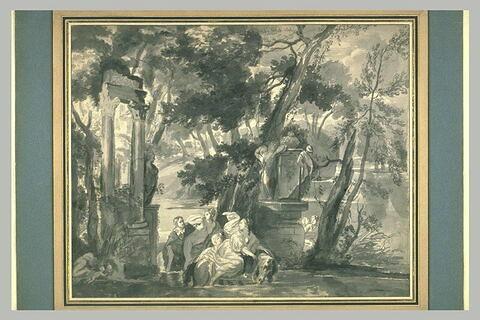 Scène d'enlèvement dans un parc