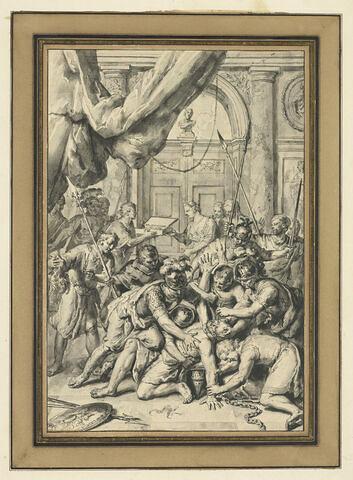Les Philistins crevant les yeux à Samson