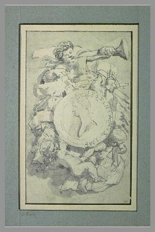 Sujet de vignette paraissant destinée aux codes de Justinien