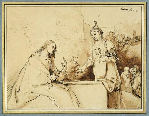 Le Christ et la Samaritaine auprès du puits