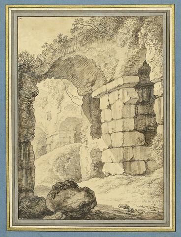 Portion des ruines du Colisée