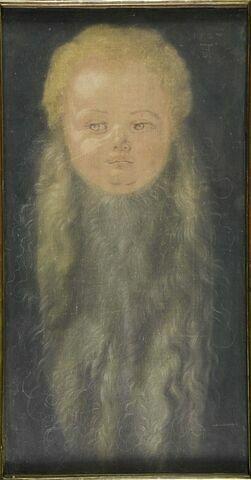 Tête d'enfant barbu
