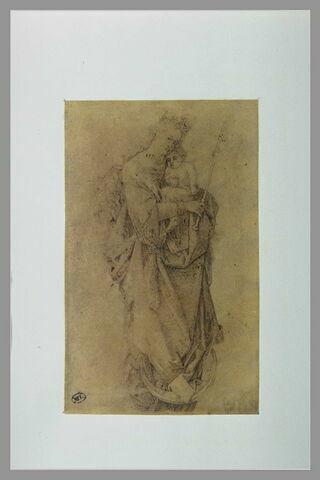La Vierge à la couronne d'étoiles, debout sur un croissant de lune