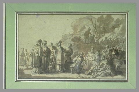 Laban cherchant ses idoles cachées par Lia