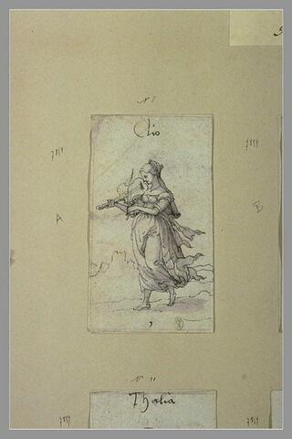 Clio, muse de la Poésie héroïque, jouant de la cithare