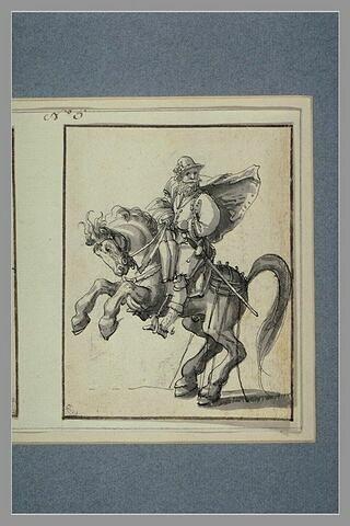 Cavalier tourné à gauche