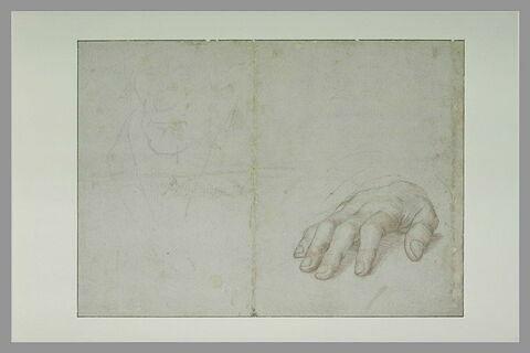 Etudes d'une main et d'une tête pour le portrait d'Erasme