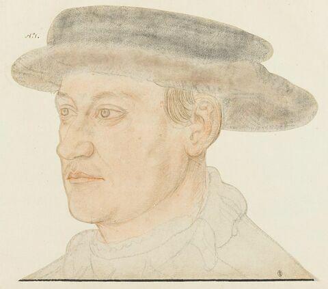 Portrait en buste d'un jeune homme imberbe