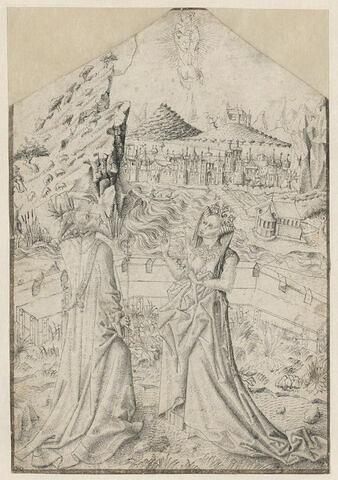 La Vierge et l'Enfant apparaissant à Auguste et à la Sibylle Tiburtine