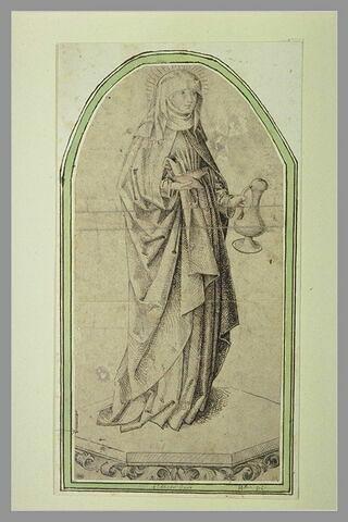 Sainte Elisabeth de Thuringe tenant une aiguière et deux pains