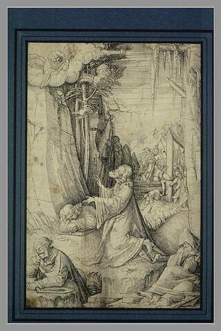 Jésus à genoux dans le Jardin des oliviers