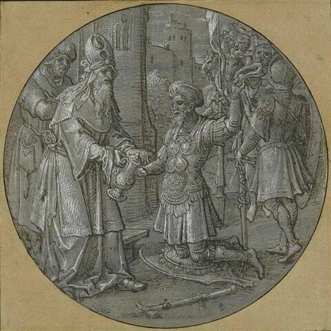 Melchisédec donnant à Abraham le pain et le vin