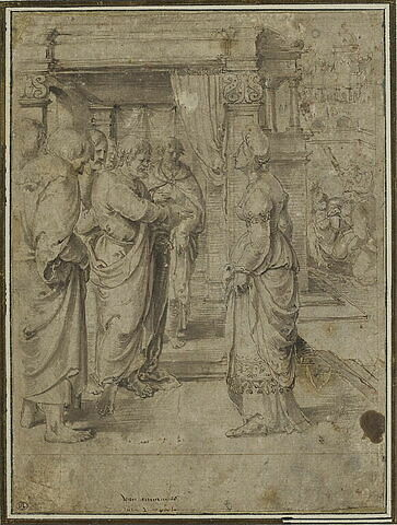 Saphire devant les apôtres